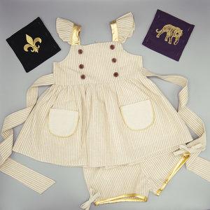 Evie's Closet LSU/Saints Football Panel Tunic Patch Dress with Shorts