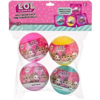 Zoofy 4 pack of LOL Mini Surprise Balls with Necklace