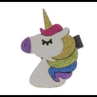 Doe a Dear Multi-Colored Mane Unicorn Head Hair Clip