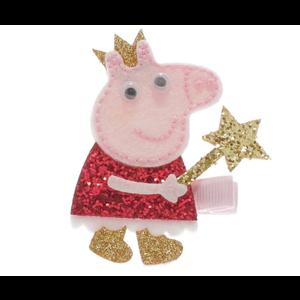Doe a Dear Peppa Pig with Star Wand Glittered Hair Clip