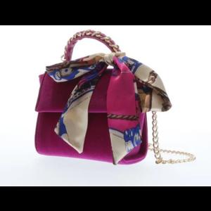 Doe a Dear Top handle velvet handbag - Fuchsia