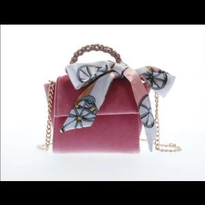 Doe a Dear Top handle velvet handbag - Pink