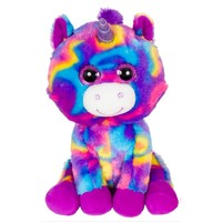 "Zoofy 10"" Looky Boo's - Purple Tie Dye Unicorn Plush Stuffed Animal"