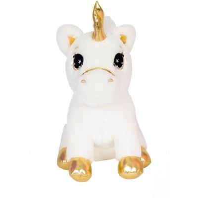 """Zoofy 13"""" White Unicorn Plush Stuffed Animal Fantasy Pets"""