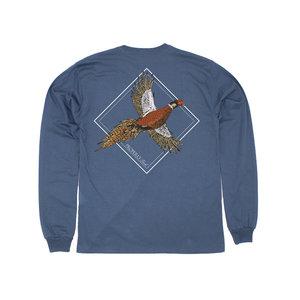 Properly Tied LD Flying Pheasant Long Sleeve (Stone Blue)