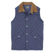 Properly Tied Beaumont Vest Navy