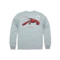 Properly Tied Crawfish Season Long-Sleeved Chrome Grey