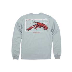 Properly Tied Crawfish Season Long-Sleeved Chrome Grey