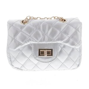 Doe a Dear Diamond Quilted Cross Body Bag - White