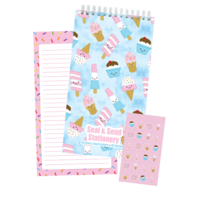 Iscream Ice Cream Treats - Seal and Send Stationary (40 Seal and Send Letters & 48 Stickers)