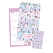 Iscream Caticorns  - Seal and Send Stationary (40 Seal and Send Letters & 48 Stickers)