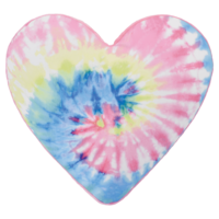 Iscream Pastel Tie Dye Heart Pillow - Bubble Gum Scented