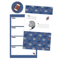 Iscream Footballs and Helmets Foldover Cards