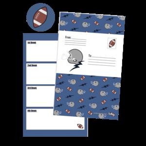 Iscream Footballs and Helmets Foldover Cards