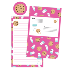 Iscream Milk and Cookies Foldover Cards
