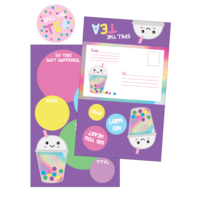 Iscream Bubble Tea Foldover Cards