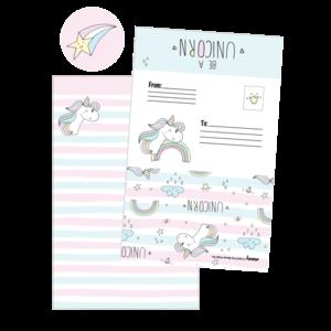 Iscream Unicorn Stripes Foldover Cards