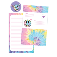Iscream Pastel Tie Dye Foldover Cards