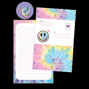 Iscream Pastel Tie Dye Foldover Cards