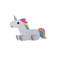 Iscream Rainbow Unicorn - Small - Removable Rhinestone Decal