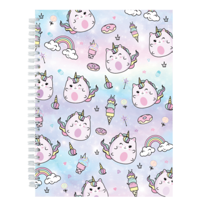 Iscream Caticorn - 3D Holographic Journal (70-Sheet Ruled Notebook)
