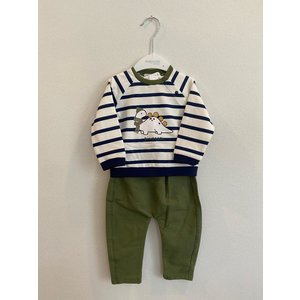 Mayoral Dinocool LS shirt and pant set (Neptune)
