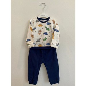 Mayoral Dinosaur LS shirt and pant set