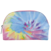 Iscream Pastel Tie Dye Oval Cosmetic Case