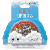 Iscream Rainbow Lip Gloss - Strawberry Flavor (in shaker-confetti package)