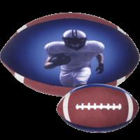 Iscream Extra-Large Football 3D Microbead Pillow
