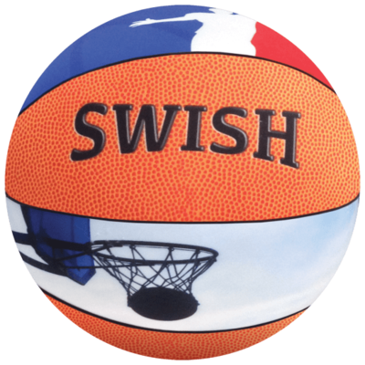 Iscream Extra-Large Basketball 3D Microbead Pillow