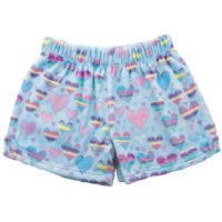 Iscream Striped Hearts - Plush Shorts
