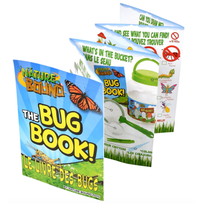 Thin Air Brands Bug Bucket - Habitat Set (bug catching tongs, net, magnifier, bottle, and more!)