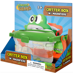 Thin Air Brands Critter Box with Magnifiers on Top & Side plus Toy Lizard Specimen