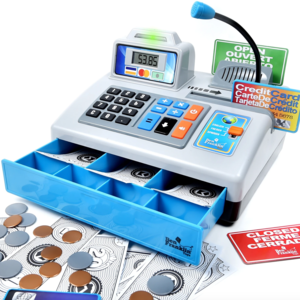Thin Air Brands Talking Cash Register - Silver