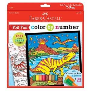 Faber-Castell Color By Number - T-Rex Dinosaur - Foil Fun