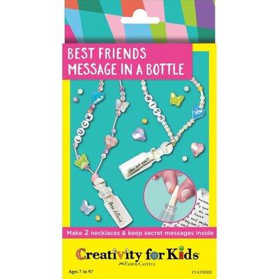 Faber-Castell Best Friends Message in a Bottle - Make 2 Necklaces & Keep Secret Messages Inside!