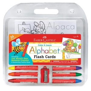 Faber-Castell Color & Learn Alphabet Flash Cards (35 Pieces)