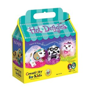 Faber-Castell Hot Doggies - Paint & Style 3 Bobblehead Puppies