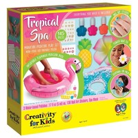Faber-Castell Tropical Spa - 145 Pieces - Manicure/Pedicure Play Set with Inflatable Flamingo Pedicure Pool