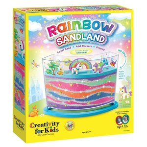 Faber-Castell Rainbow + Unicorn Sandland Sand Art- Layer Sand, Add Stickers and Display!