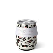 Swig 14 oz - Stemless Wine Cup - Luxy Leopard