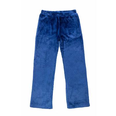 Candy Pink Fleece Pants - Blue