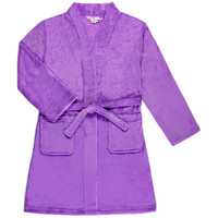 Candy Pink Fleece Robe - Lilac Purple -