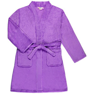Candy Pink Fleece Robe - Lilac Purple -