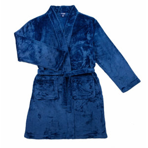 Candy Pink Fleece Robe - Navy Blue -