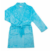 Candy Pink Fleece Robe - Aqua Blue -