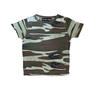 Vintage Havana Shirt - Camo with Stripes on Sleeves