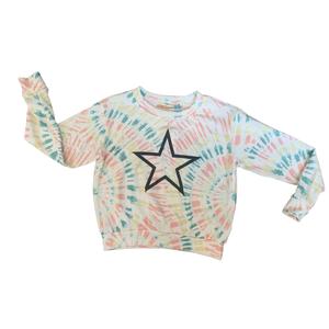 Vintage Havana Crewneck Sweater - Sunburst Tie Dye Star