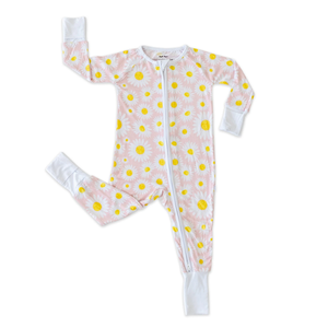 Little Sleepies Daisies - Bamboo Zippie Pajama